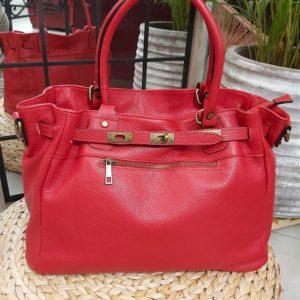 sac cuir rouge