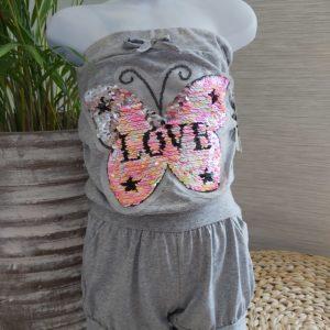 combi-short love paillette