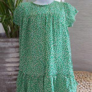 robe fleur vert