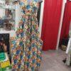 robe fleuri orange bleu
