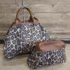 sac reversible camel leopard pochette maron deux en un